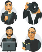 Journalists — Stock Vector