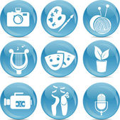 Blue ball icons arts — Stock Vector
