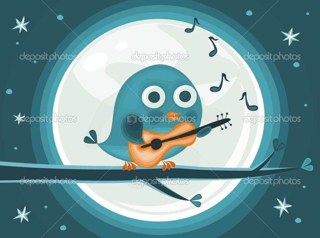 Bird with banner  Stock Vector #6559768