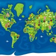 Vector de stock : Cartoon map of world