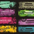 Grungy banners — Stock Vector