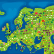 Vettoriale Stock : Cartoon map of europe