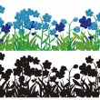 Royalty-Free Stock Vector Image: Flower silhouettes