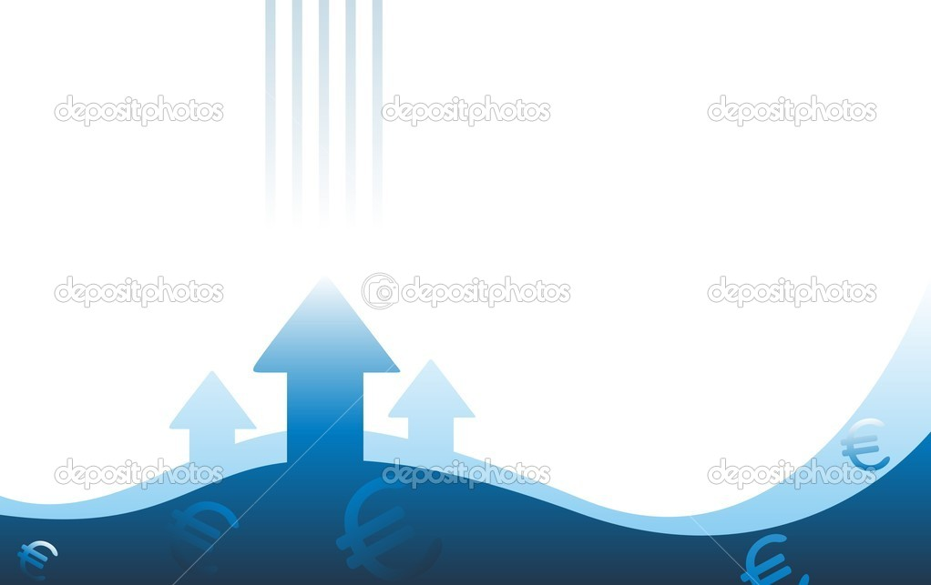 Euro growth — Stock Vector #6564517