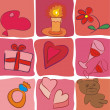 Stock Vector: Cute valentines day background