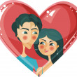 Sweet couple - Stock Vector