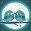 Royalty-Free Stock Imagen vectorial: Birds in love