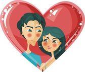 Couple doux — Vecteur
