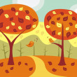 Autumn landscape — Stock Vector #6632732