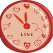 Stock Vector: Romantic love watch