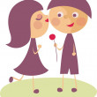 Stock Vector: Sweet couple