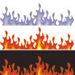 Stock Vector: Fire banners