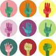 Hands up! - Stock Vector
