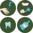 Dental icon set — Stock Vector