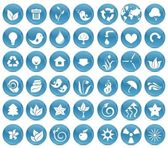 42 ecological icons — Stock Vector