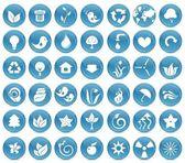 42 icônes écologiques — Vecteur