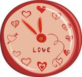 Romantic love watch — Stockvector
