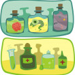 Traditional and modern medicine pharmacy — Stock Vector