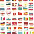 Flags of 48 european countries drawn in childish way — Stock Vector