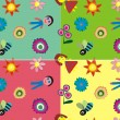 Cute children doodle background — Stock Vector