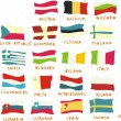 European union members' flags drawn in a childish manner — Stockvektor