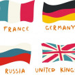 G8 members flags drawn in a childish manner — Image vectorielle