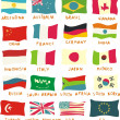 G20 flags drawn in a childish manner — Stock Vector
