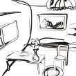 Royalty-Free Stock Vectorafbeeldingen: Sketch of the room