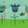 Cute spring background — Stock Vector