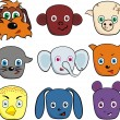 Royalty-Free Stock Imagen vectorial: Animals with different emotions