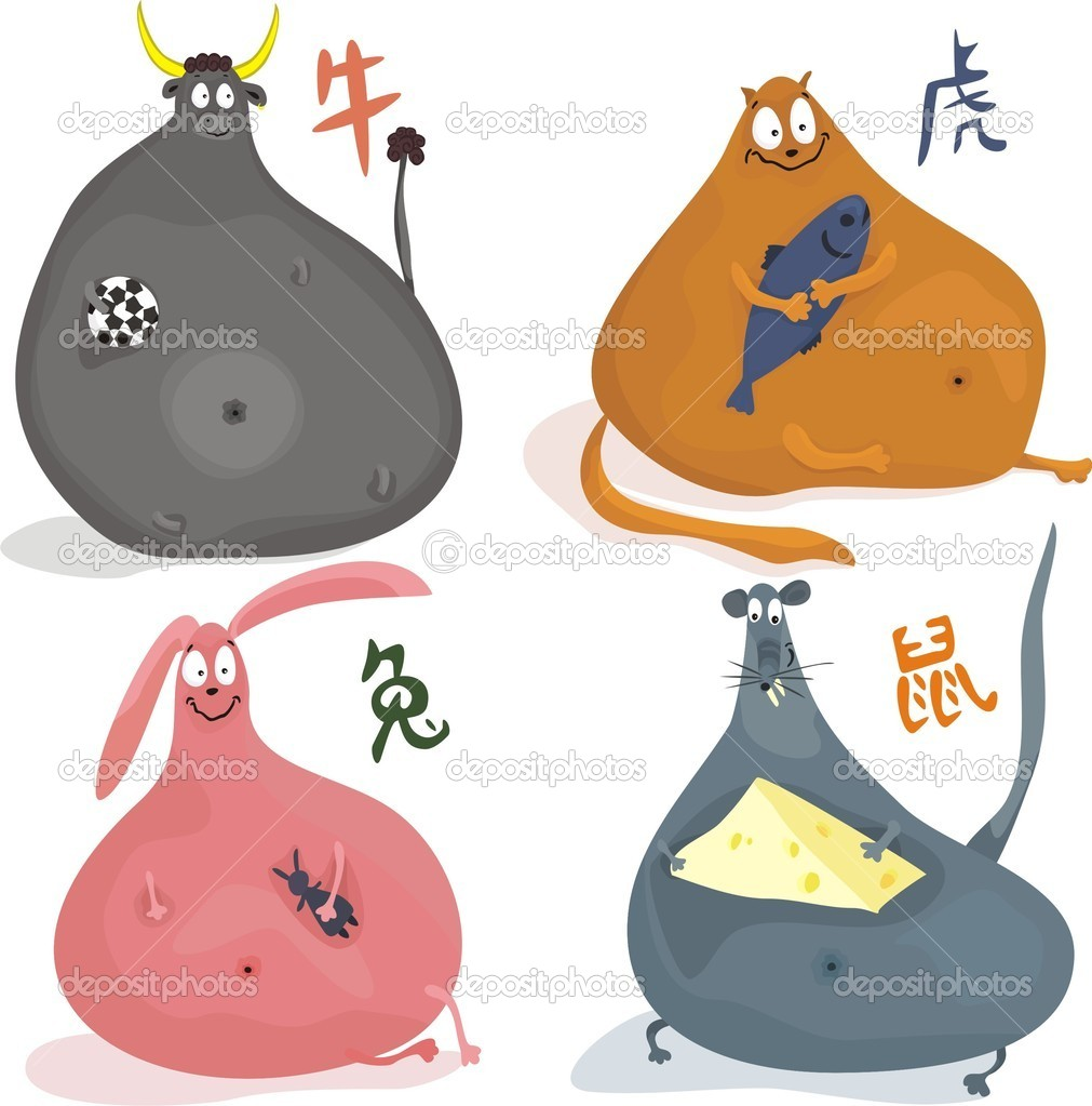 Chinese zodiac animals  Stock Vector #6658425