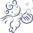 Royalty-Free Stock Vector Image: Isolated doodle cupid