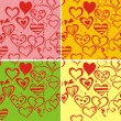 Royalty-Free Stock Vektorfiler: Love seamless pattern backdround