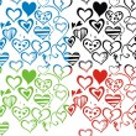 Love seamless pattern backdround — Stock Vector