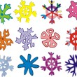 Snowflakes isolated on white — Stock Vector