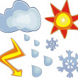 Weather icons — Stock Vector #6673814