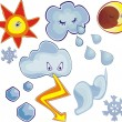 Weather icons — Stock Vector #6673839