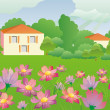 Cute spring background — Stockfoto