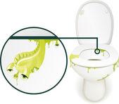 Toilet monster — Stock Photo