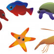 Set of sea animals — Stock Photo