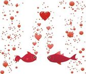 Fish in love — Stock Photo