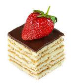 用草莓蛋糕. — 图库照片