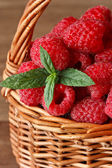 Fresh raspberries. — Stock Photo