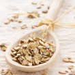 Stock Photo: Oat flake.