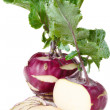 Stock Photo: Sliced kohlrabi.
