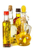 Olive oil with herbs and spices. — Stock Photo