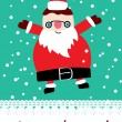 Cute santa card — Vettoriali Stock