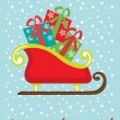 Christmas sleigh card — Stock Vector