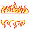 Stock Vector: Flames borders