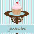 Stock Vector: Cupcake background card